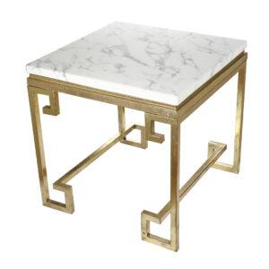 שולחן צד שיש/זהב