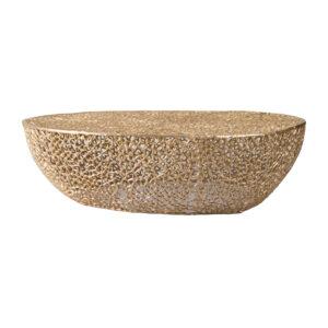 שולחן סלון אלומיניום זהב מחורר