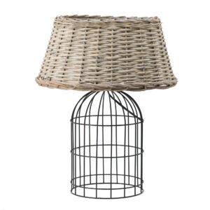 מנורת שולחן רטן וברזל