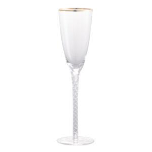 כוס יין מסגרת זהב