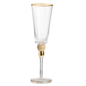 כוס יין יוקרטית עם קריסטלים
