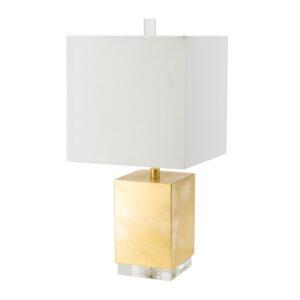 מנורת שולחן זהב מברזל מעמד קריסטל בינוני