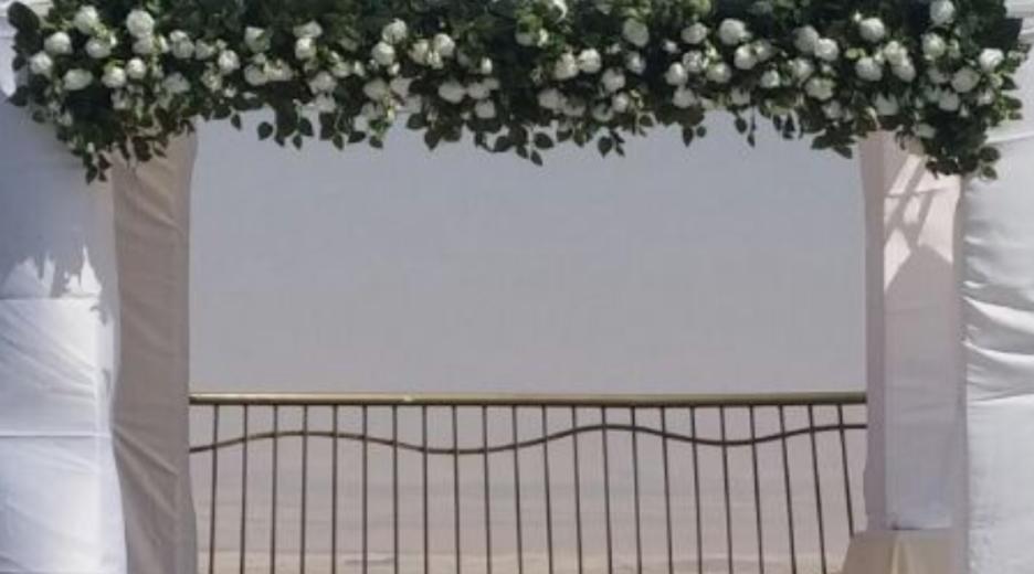 עיצוב חופה באולם ורד יריחו